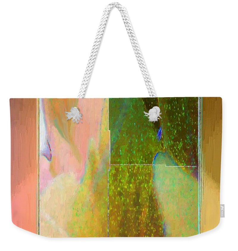 Abstract Weekender Tote Bag featuring the painting Stained Glass Shower by RC DeWinter