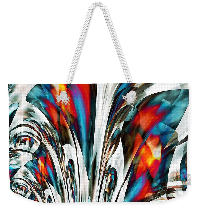 Stained Weekender Tote Bag featuring the digital art Stained by Maria Urso
