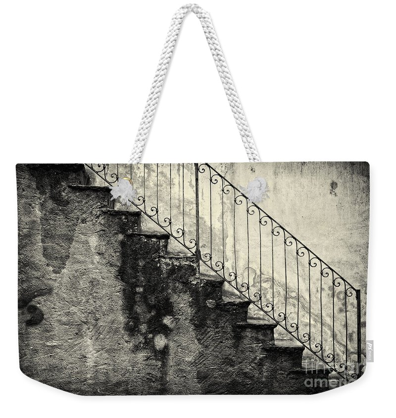Stairs Weekender Tote Bag featuring the photograph Stairs On A Rainy Day by Silvia Ganora