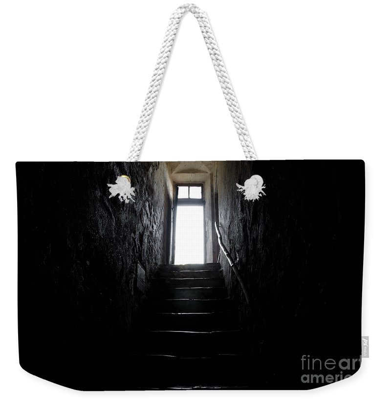 Stairs Weekender Tote Bag featuring the photograph Stairs To The Light by Mats Silvan