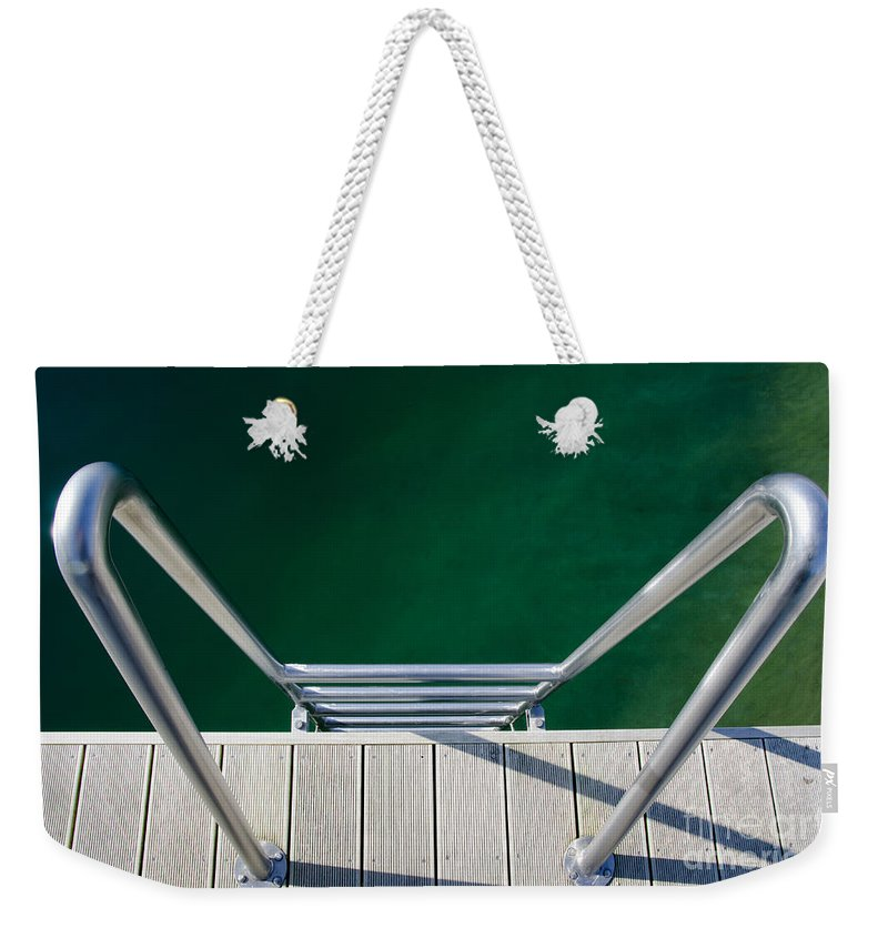 Stairs Weekender Tote Bag featuring the photograph Stairs To The Water by Mats Silvan
