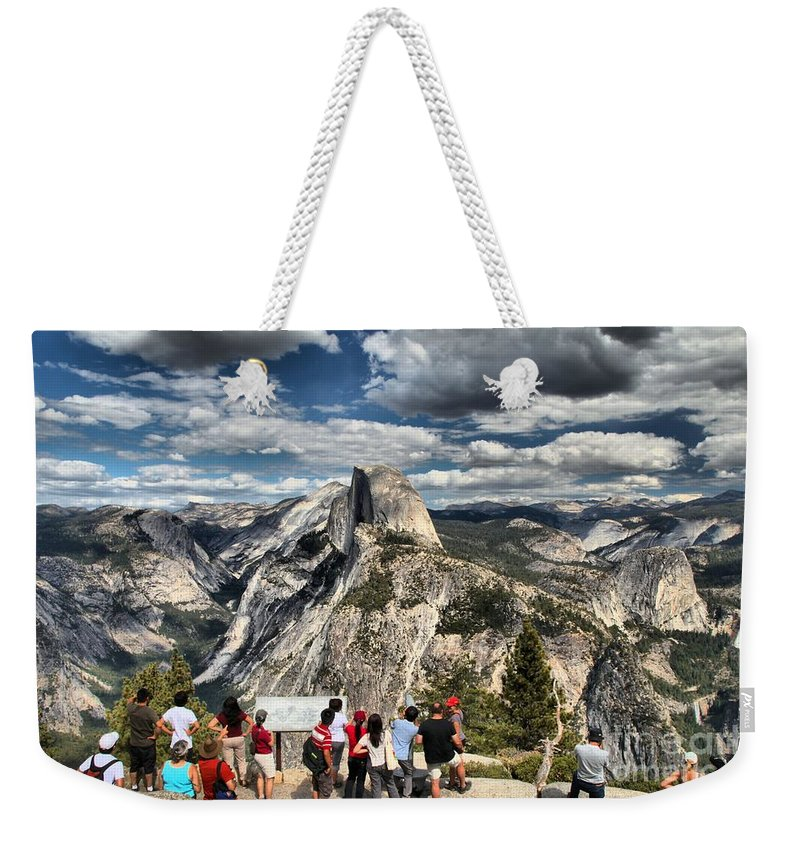 Half Dome Weekender Tote Bag featuring the photograph Standing In Awe by Adam Jewell
