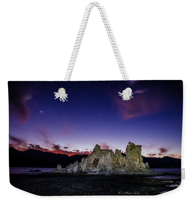 Mono Lake Weekender Tote Bag featuring the photograph Starry Night Tufa by La Rae Roberts