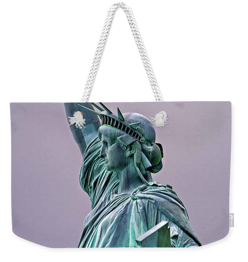 Statue Of Liberty Weekender Tote Bag featuring the photograph Statue Of Liberty by Bill Lindsay