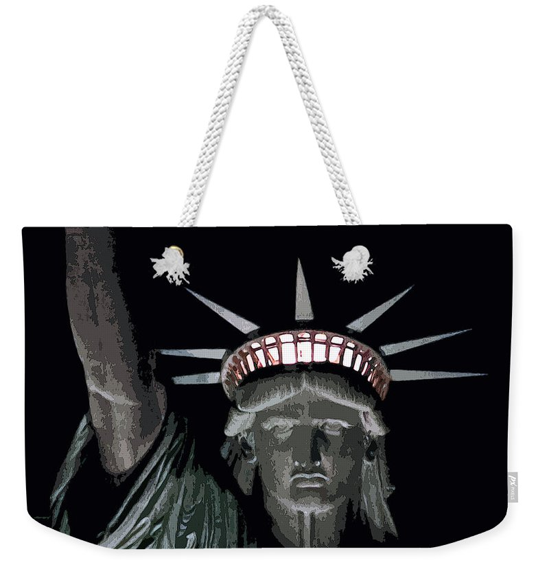 Statue Of Liberty Weekender Tote Bag featuring the photograph Statue Of Liberty Poster by David Pringle