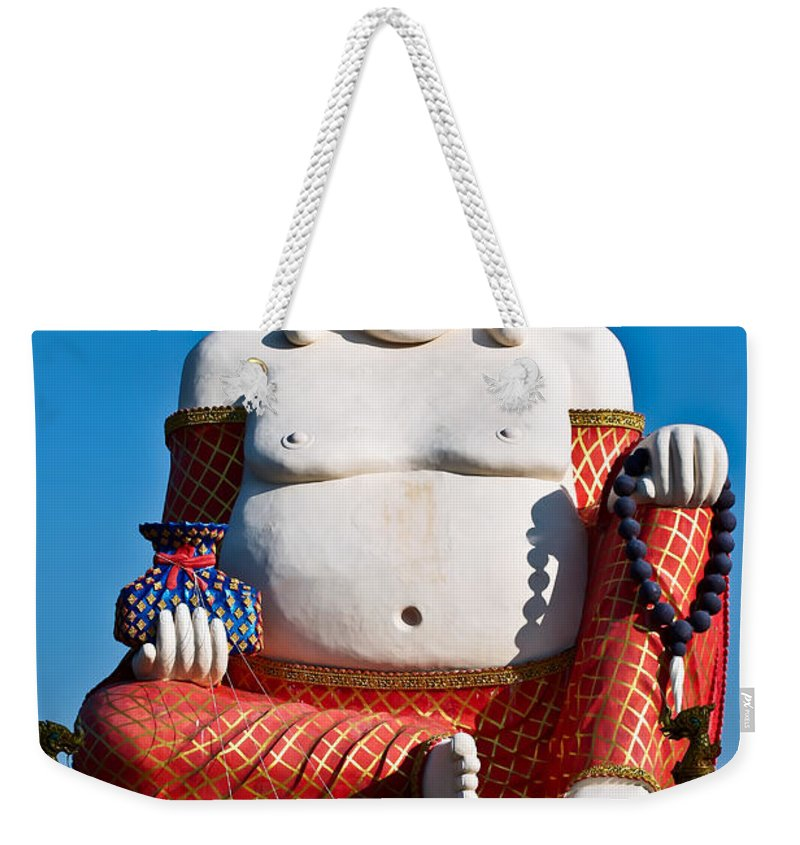 Asia Weekender Tote Bag featuring the photograph Statue Of Shiva by Adrian Evans