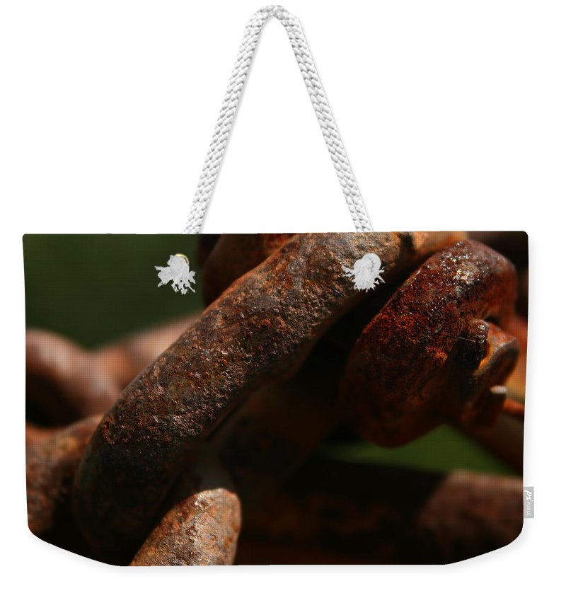 Rusty Weekender Tote Bag featuring the photograph Stay Connected by Kathy Clark