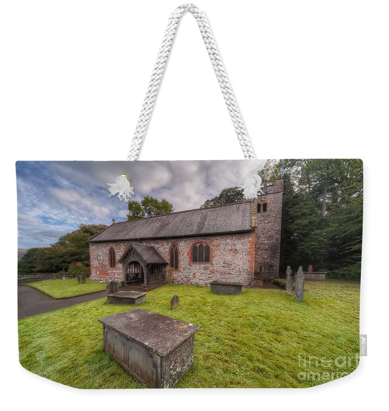 British Weekender Tote Bag featuring the photograph St.dyfnog's Church by Adrian Evans