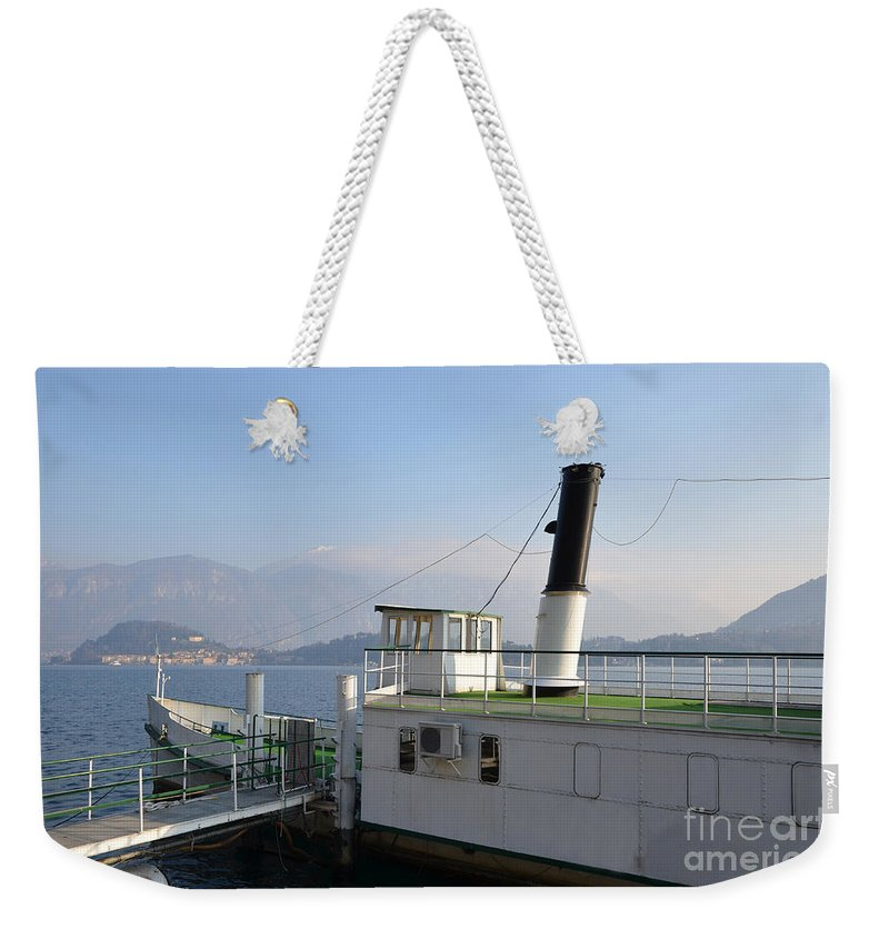 Steamship Weekender Tote Bag featuring the photograph Steamship by Mats Silvan