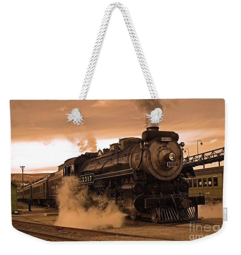 Pennsylvania Weekender Tote Bag featuring the photograph Steamtown Engine 2317 by Rich Walter