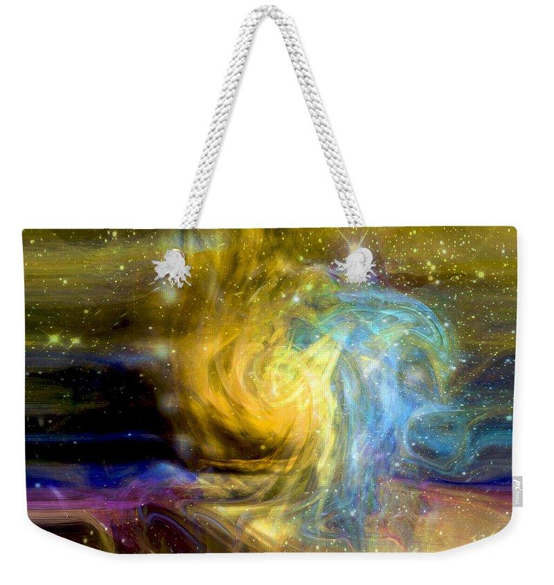 Steller Motion Weekender Tote Bag featuring the digital art Steller Motions by Linda Sannuti