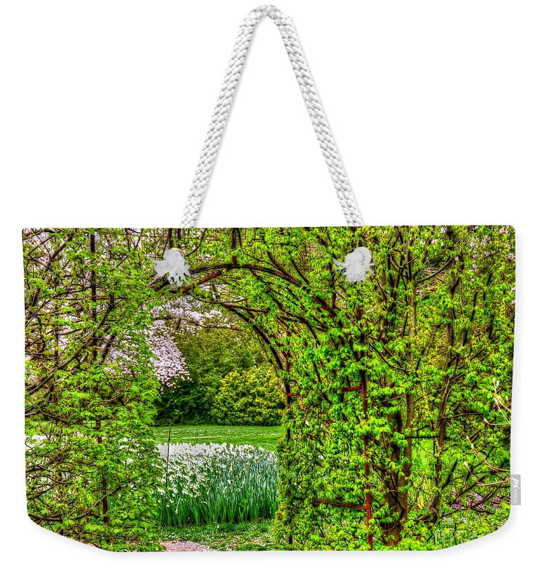 Vines Weekender Tote Bag featuring the photograph Step Right In by Debbi Granruth