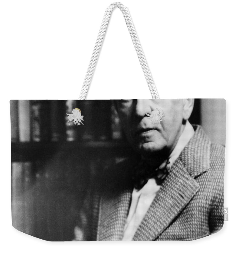 1950s Weekender Tote Bag featuring the photograph Stephen C. Clark (1882-1960) by Granger