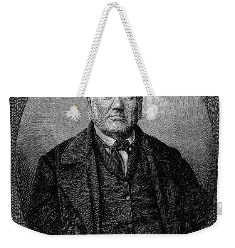 1852 Weekender Tote Bag featuring the photograph Stephen Vail (1780-1864) by Granger