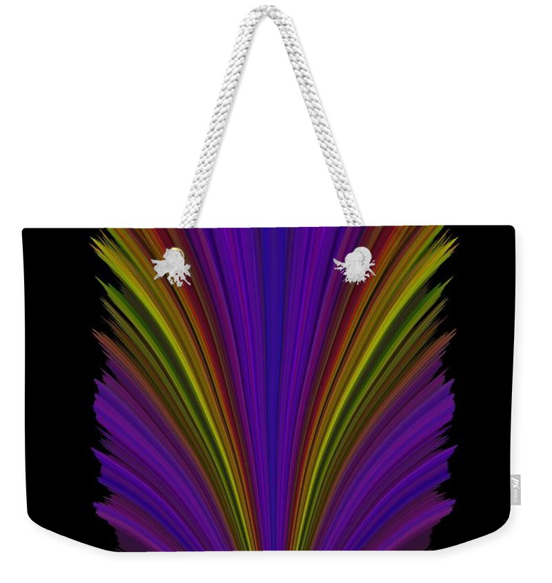 Abstract Weekender Tote Bag featuring the digital art Steppin Out by Tim Allen