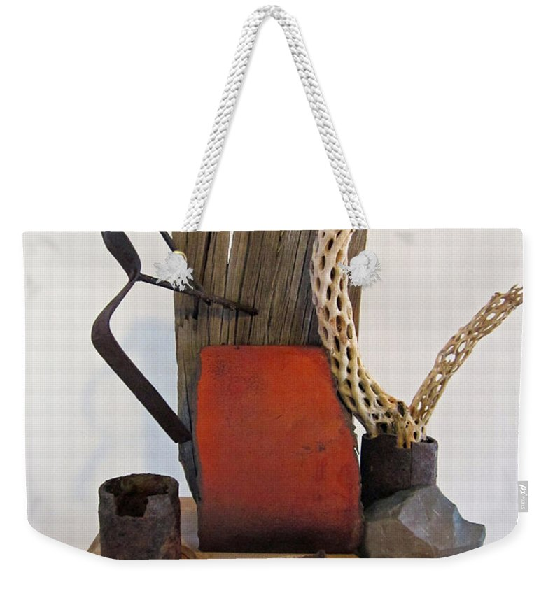 Sculpture Weekender Tote Bag featuring the sculpture Still Life by Snake Jagger