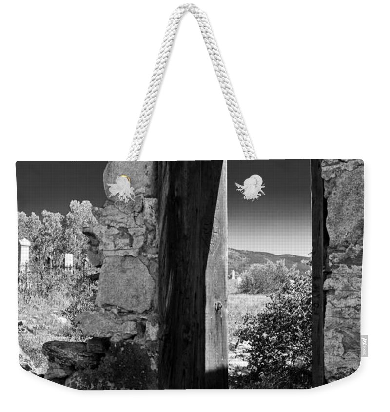 Cemetary Weekender Tote Bag featuring the photograph Still Standing by Colleen Coccia