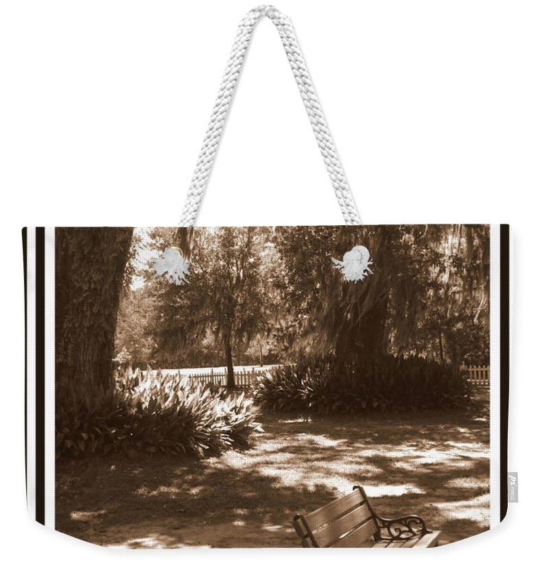 Bench Weekender Tote Bag featuring the photograph Still Waiting by Carol Groenen