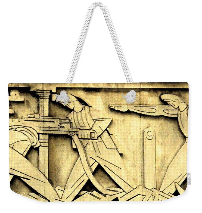 Toronto Stock Exchange Weekender Tote Bag featuring the photograph Stock Exchange Miners by Ian MacDonald