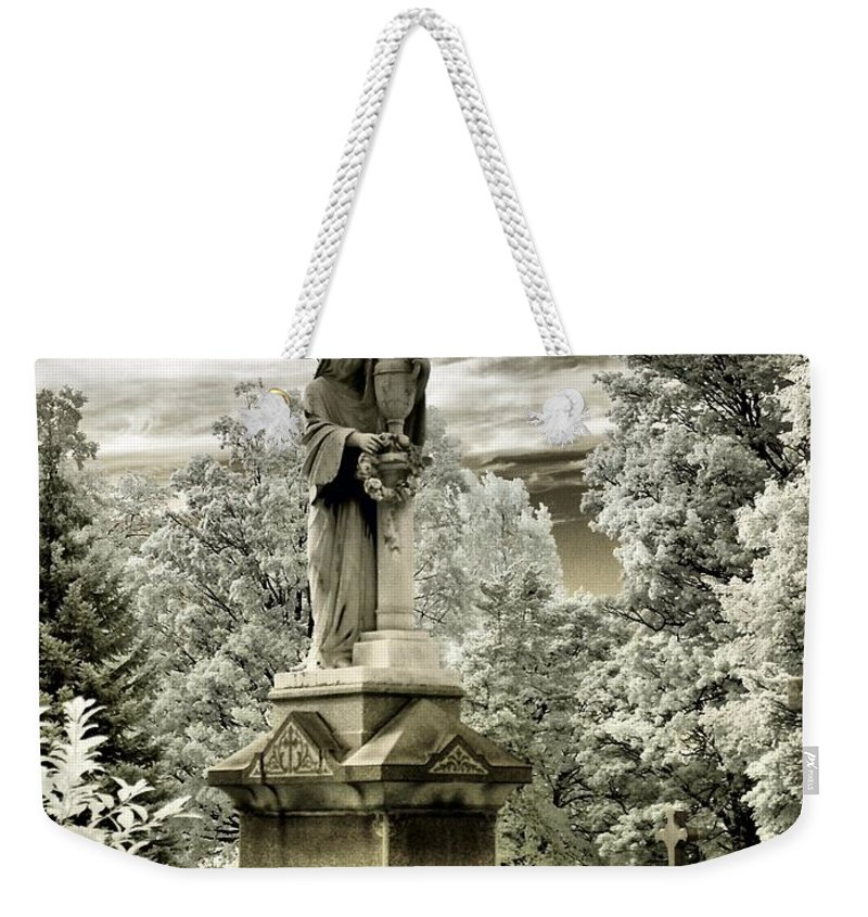 Angel Weekender Tote Bag featuring the photograph Stone Veil by Gothicrow Images