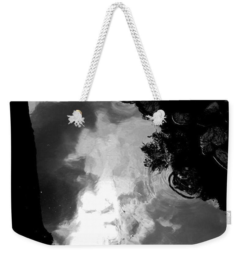 Black And White Weekender Tote Bag featuring the photograph Stoney Reflections by Michele Nelson