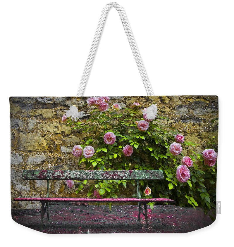 Austria Weekender Tote Bag featuring the photograph Stop And Smell The Roses by Debra and Dave Vanderlaan