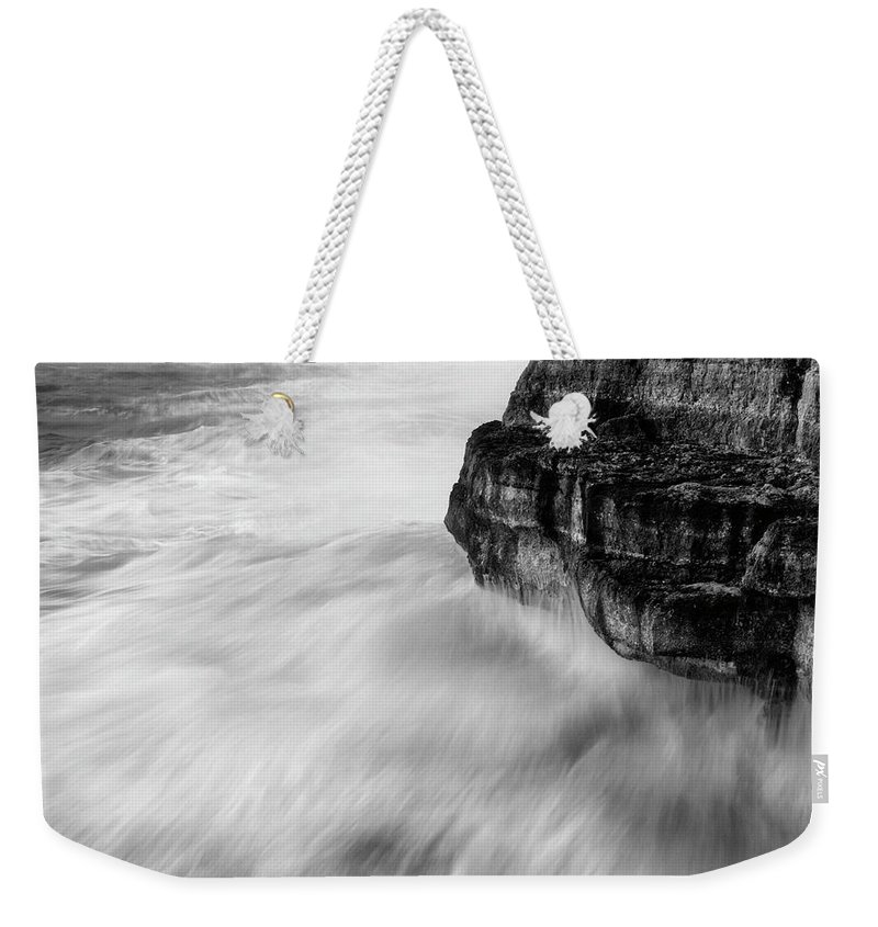 Sea Weekender Tote Bag featuring the photograph Stormy Sea 1 by Pedro Cardona Llambias