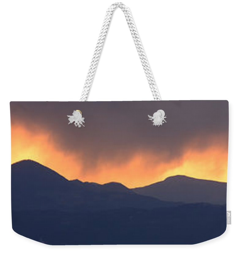 Sunset Weekender Tote Bag featuring the photograph Stormy Sunset by Ian Middleton
