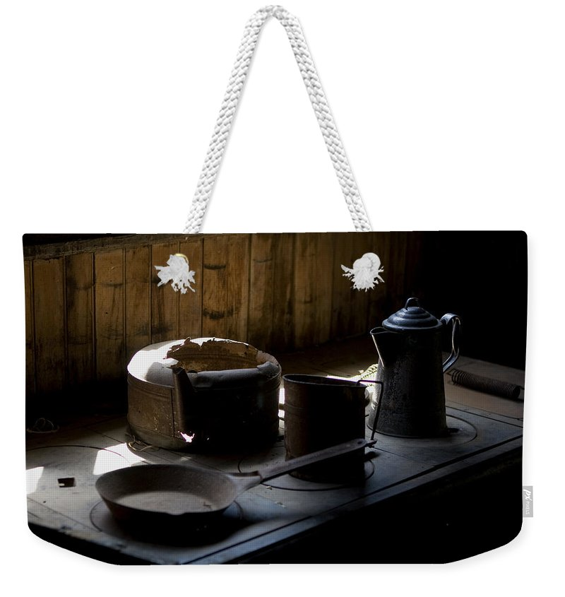 Stove Top Weekender Tote Bag featuring the photograph Stovetop Still Life by Lorraine Devon Wilke
