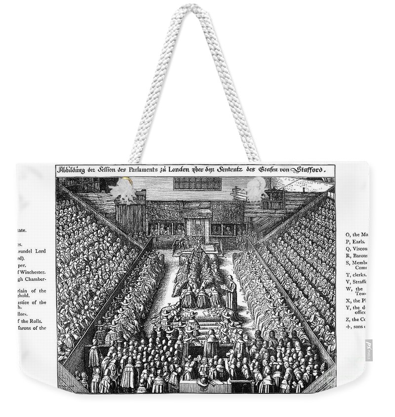 1641 Weekender Tote Bag featuring the photograph Strafford Trial, 1641 by Granger