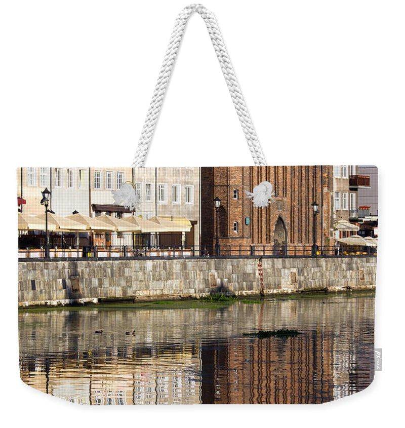 Gdansk Weekender Tote Bag featuring the photograph Straganiarska Gate In Gdansk by Artur Bogacki