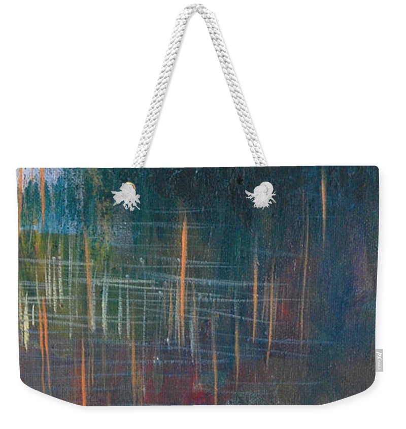 Landscape Weekender Tote Bag featuring the painting Stranded by Melissa Peterson