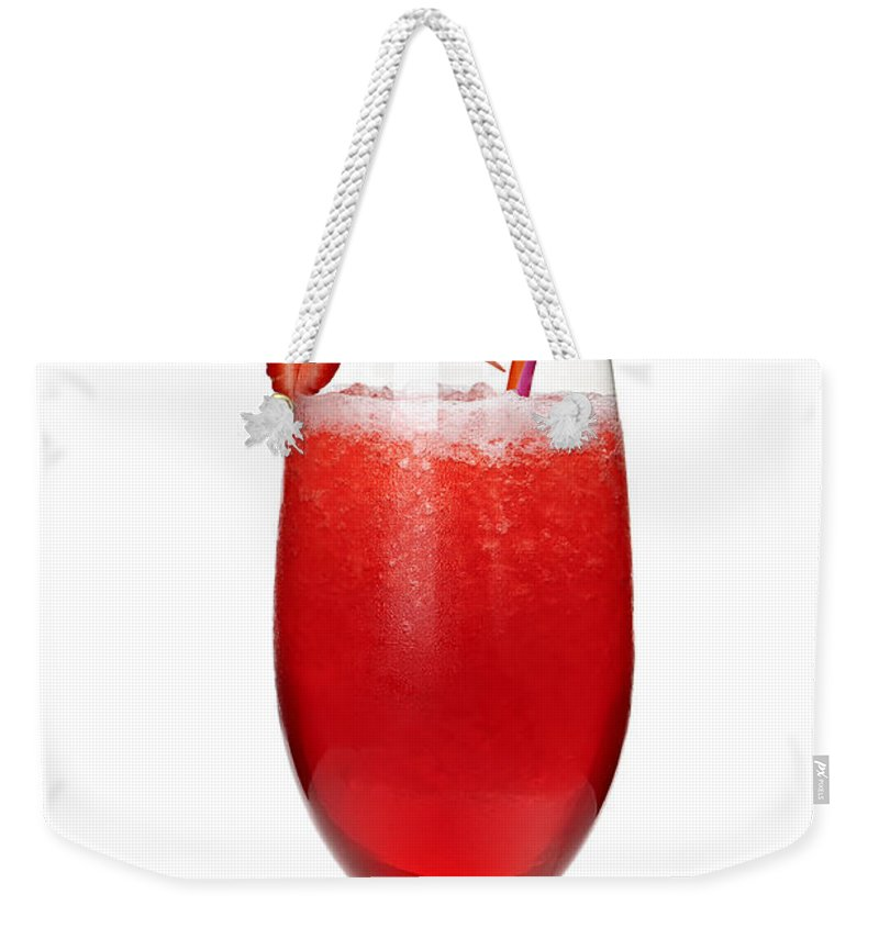 Strawberry Weekender Tote Bag featuring the photograph Strawberry Daiquiri by Elena Elisseeva