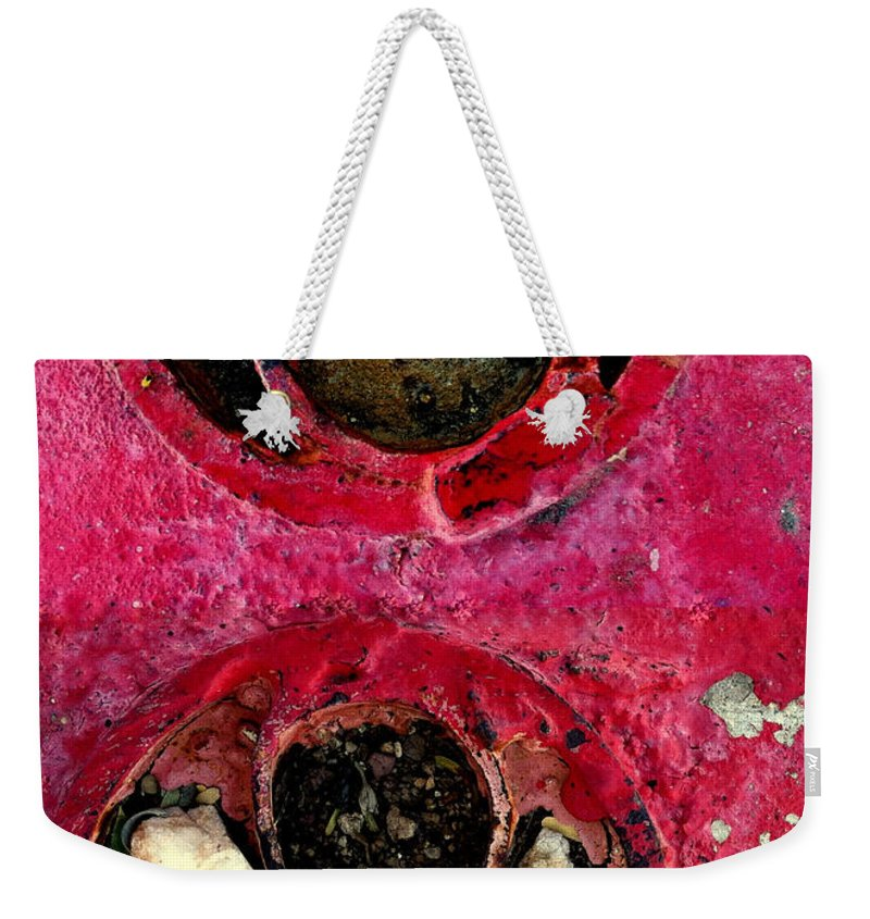 Red Weekender Tote Bag featuring the photograph Streets Of Tucson 99 by Marlene Burns