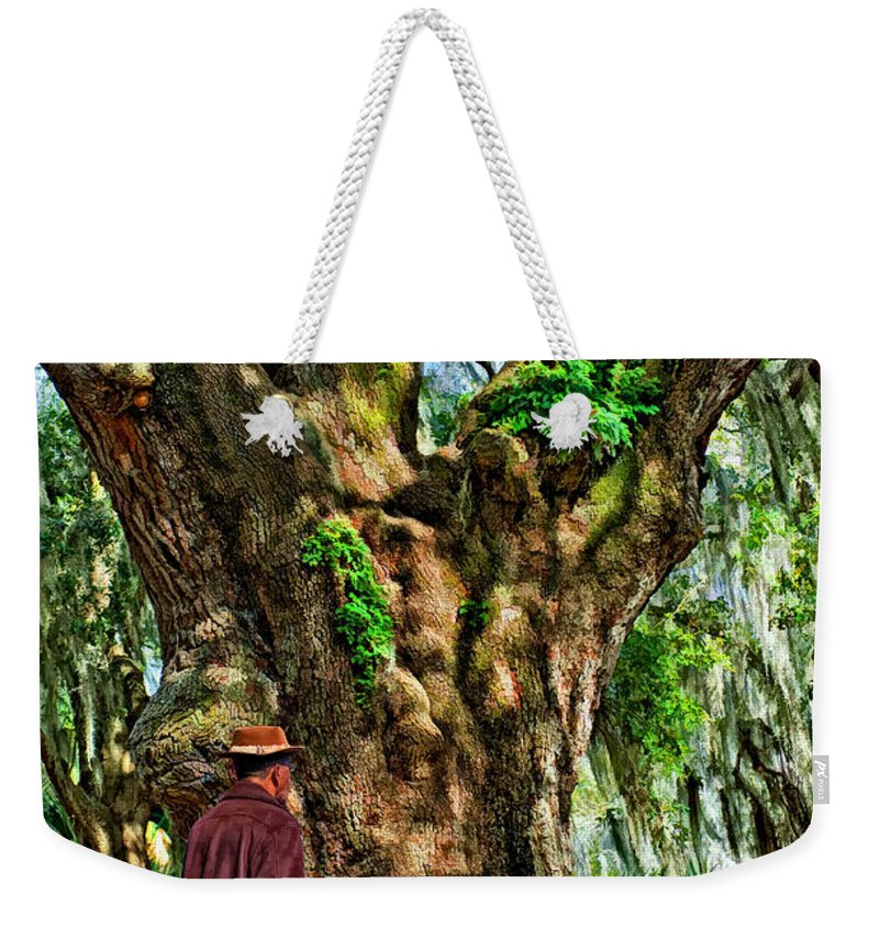 New Orleans Weekender Tote Bag featuring the photograph Strolling With Giants Painted by Steve Harrington