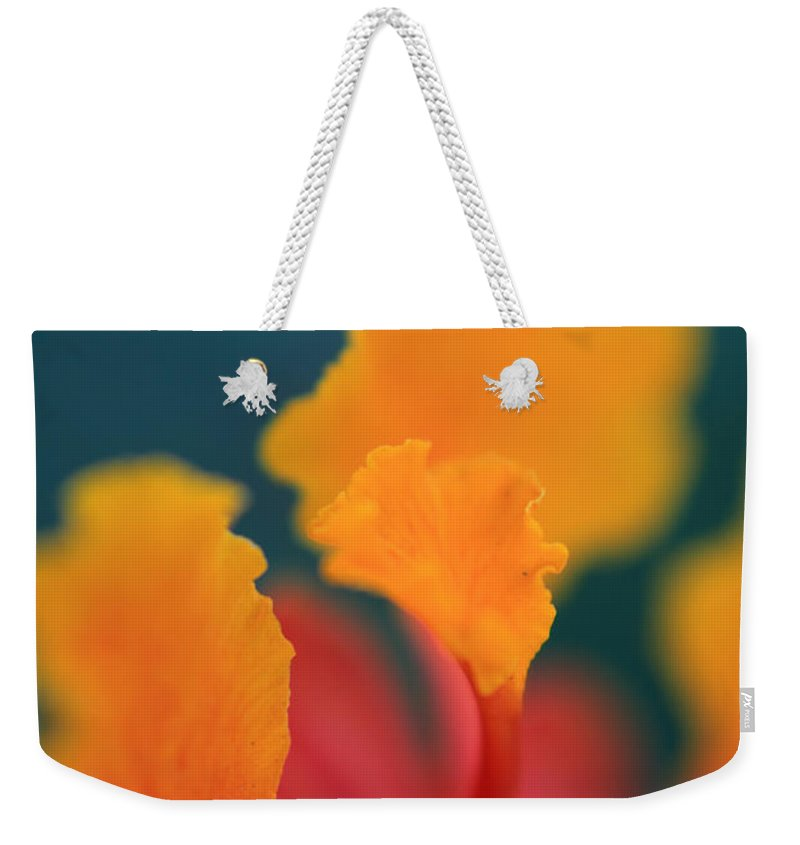 Flowers Weekender Tote Bag featuring the photograph Strong Enough by Laurie Search
