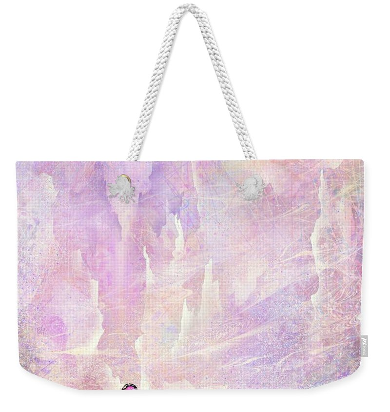 Landscape Weekender Tote Bag featuring the digital art Stuck in a moment of time by William Russell Nowicki