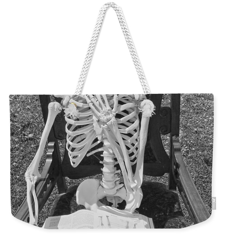 Skeleton Weekender Tote Bag featuring the photograph Study by Betsy Knapp