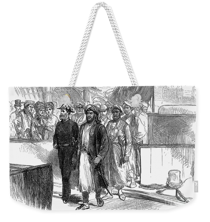 1875 Weekender Tote Bag featuring the photograph Sultan Of Zanzibar, 1875 by Granger