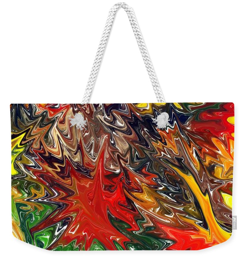 Yellow Weekender Tote Bag featuring the digital art Summer Autumn by Chris Butler