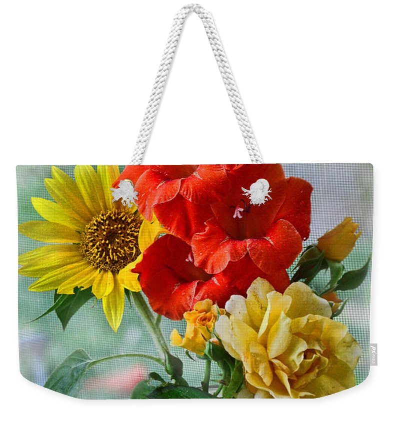 Nature Weekender Tote Bag featuring the photograph Summer Floral by Debbie Portwood