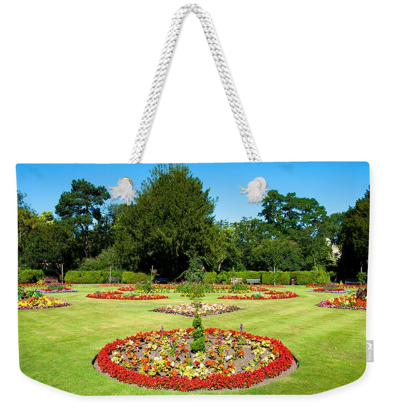 Abbey Weekender Tote Bag featuring the photograph Summer Garden by Tom Gowanlock
