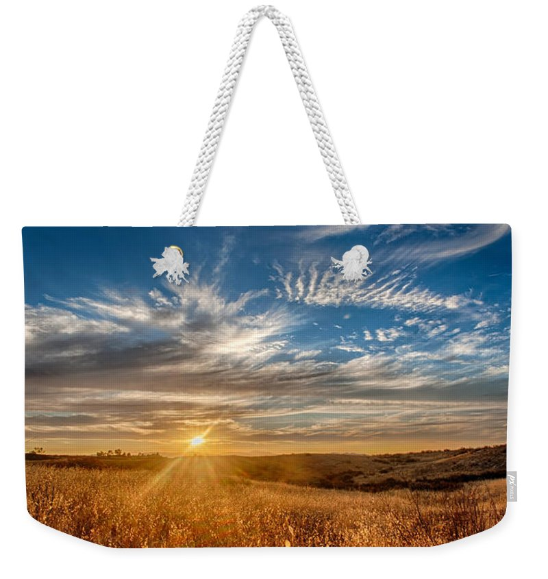 California Weekender Tote Bag featuring the photograph Sun Enchanted Evening I by Peter Tellone