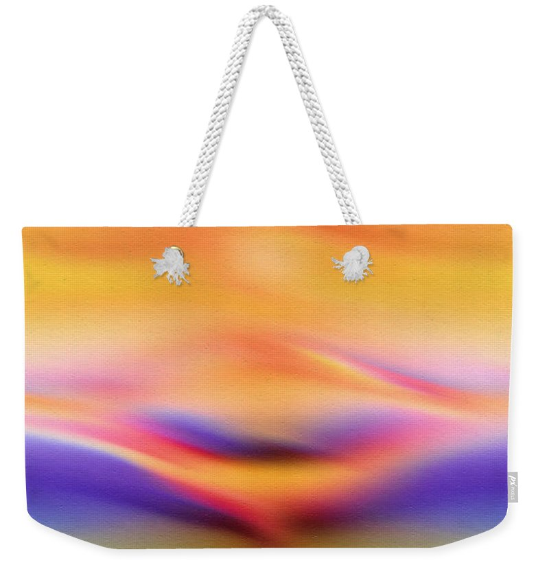 Abstract Weekender Tote Bag featuring the painting Sun Kissed by Georgiana Romanovna
