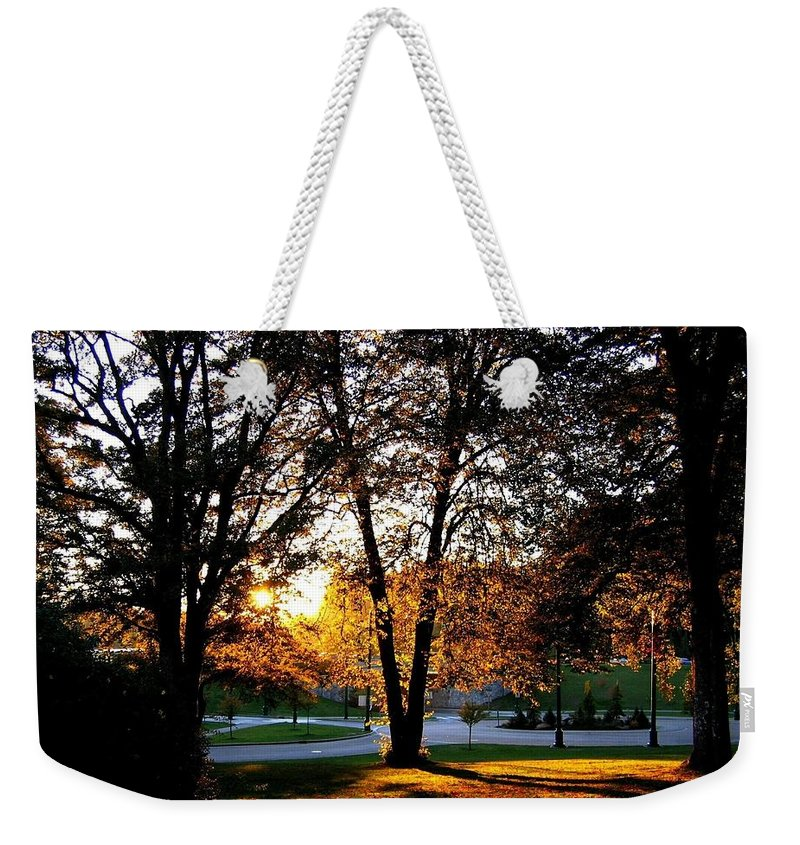 Stanley Park Weekender Tote Bag featuring the photograph Sundown In Stanley Park by Will Borden