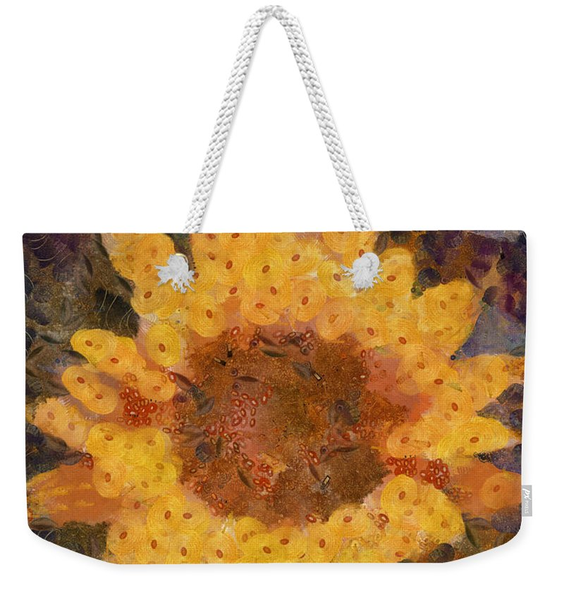 Flower Weekender Tote Bag featuring the photograph Sunflower Season by Trish Tritz