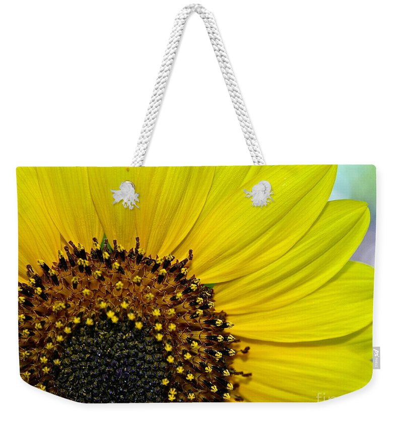 Outdoors Weekender Tote Bag featuring the photograph Sunny Summer Sunflower by Susan Herber