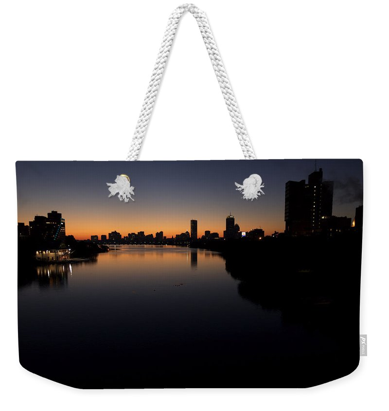 Boston Weekender Tote Bag featuring the photograph Sunrise Along The Charles River, Boston by Tim Laman