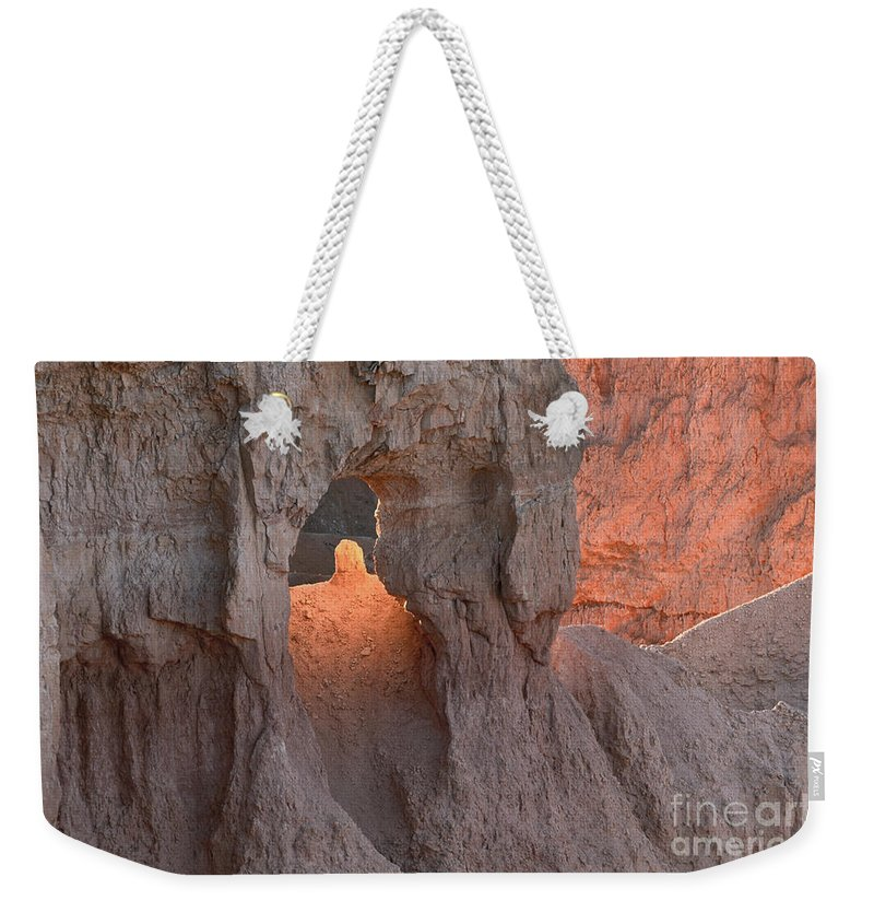 Bronstein Weekender Tote Bag featuring the photograph Sunrise Detail Bryce Canyon by Sandra Bronstein