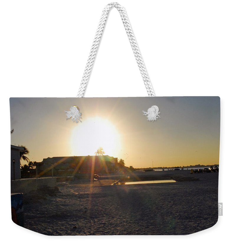 Fort Myers Beach Weekender Tote Bag featuring the photograph Sunrise Over Fort Myers Beach by Gary Wonning